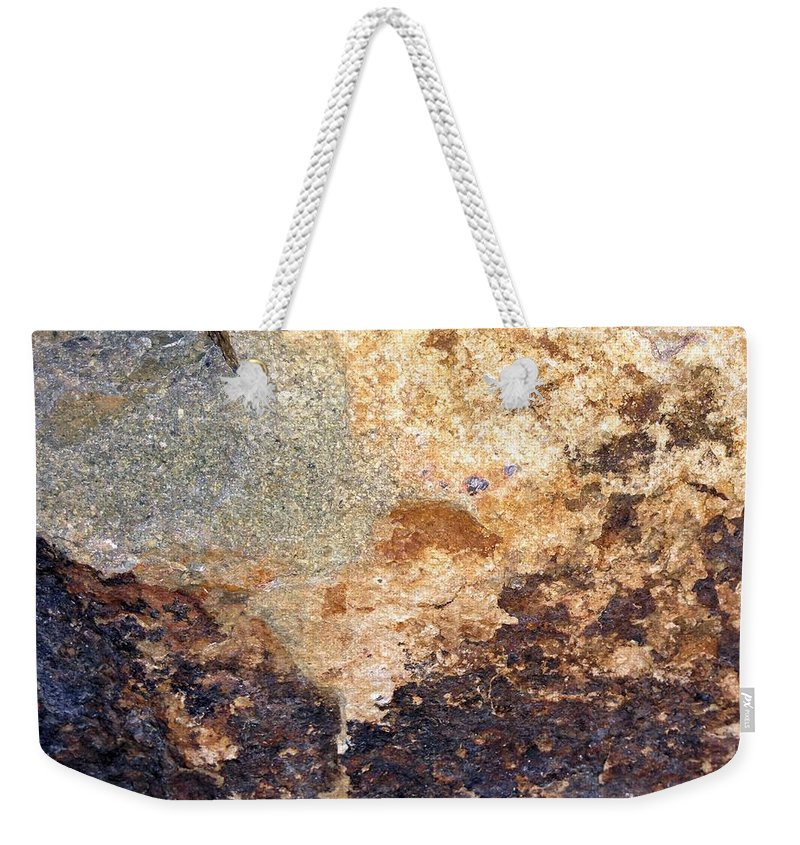 Rock Weekender Tote Bag featuring the photograph Rockscape 2 by Linda Bailey