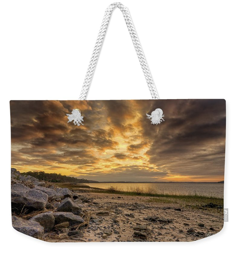 Beach Weekender Tote Bag featuring the photograph Rocky Beach by Phill Doherty