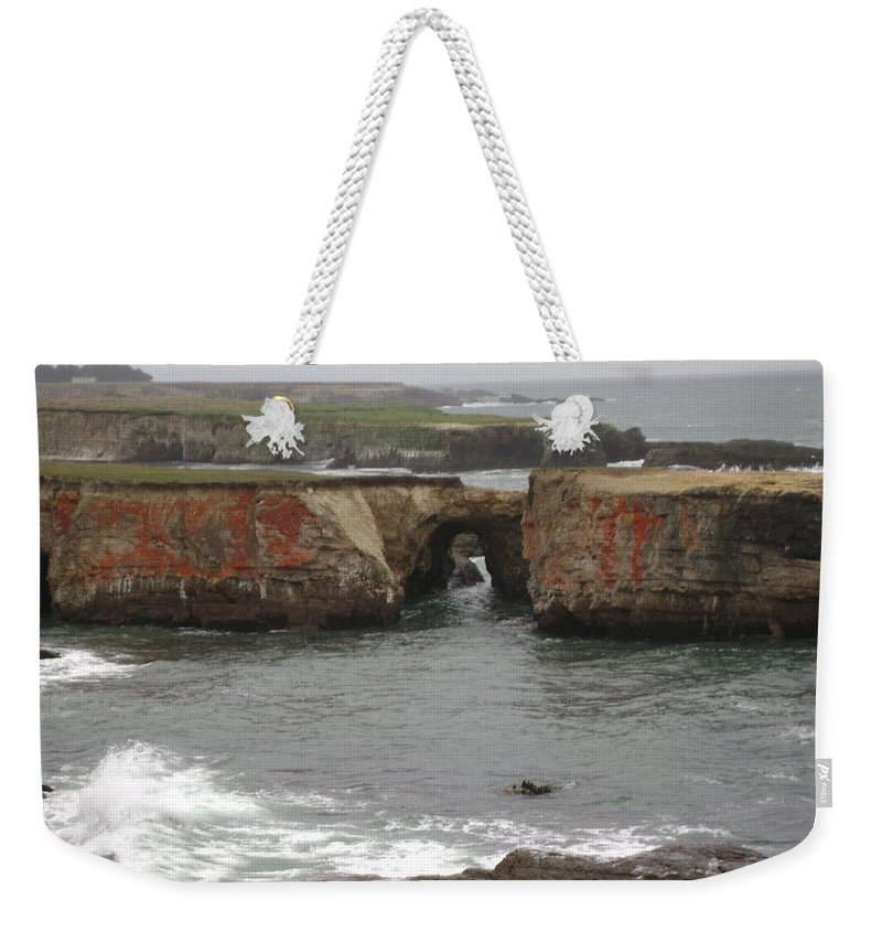 Mendocino Weekender Tote Bag featuring the photograph Rocky Coast by Mike Niday