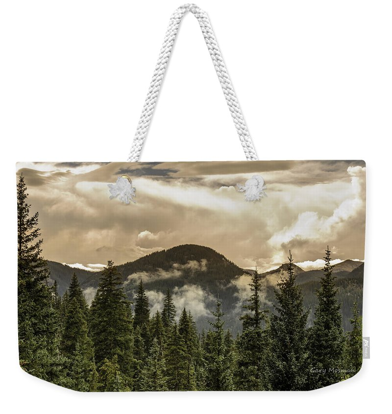 Colorado Weekender Tote Bag featuring the photograph Rocky Mountain Red by Gary Mosman
