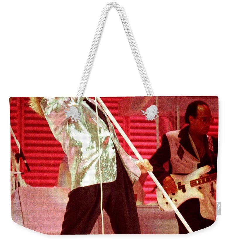 Rod Stewart Weekender Tote Bag featuring the photograph Rod Stewart A7a by Gary Gingrich Galleries