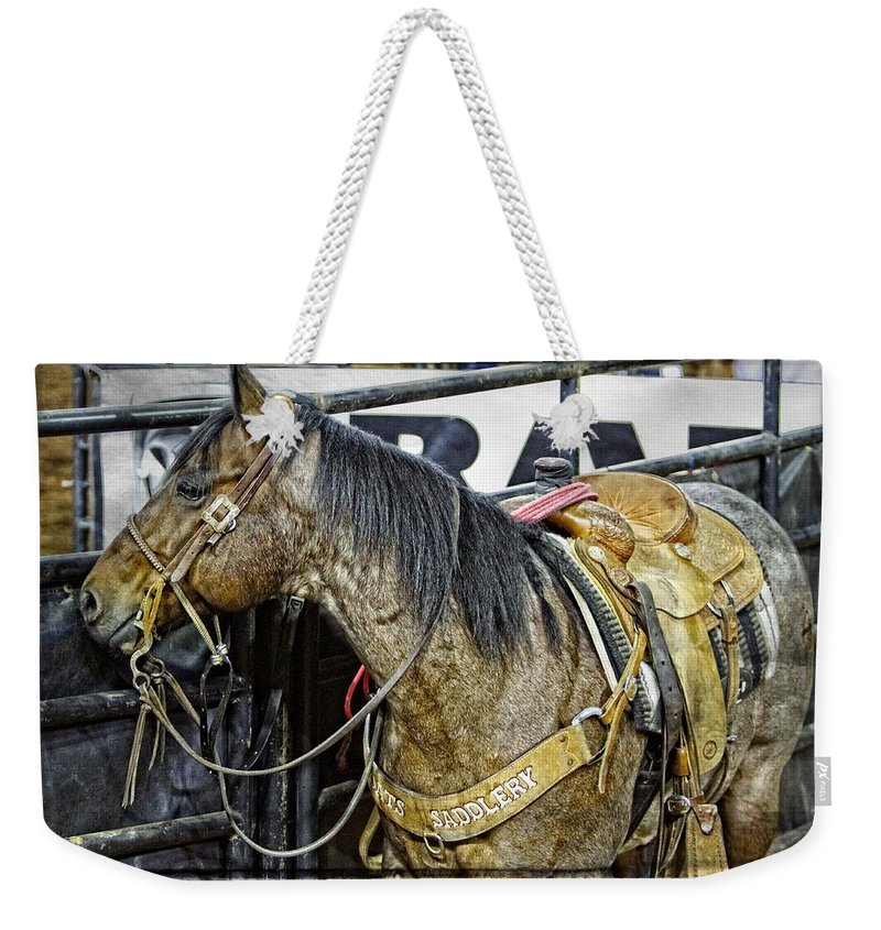 Horse Weekender Tote Bag featuring the photograph Rodeo Horse Two by Alice Gipson