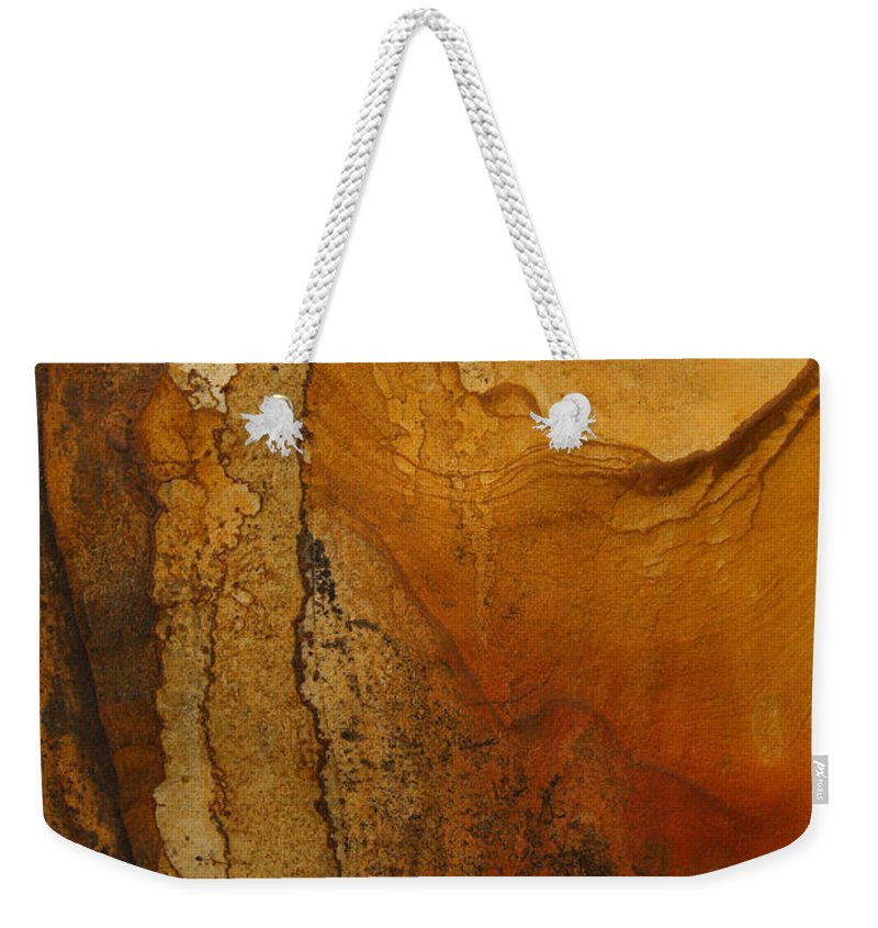 Rock Weekender Tote Bag featuring the photograph rodks 'II by Milan Gonda