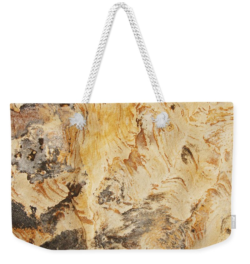 Rock Weekender Tote Bag featuring the photograph rodks 'III by Milan Gonda