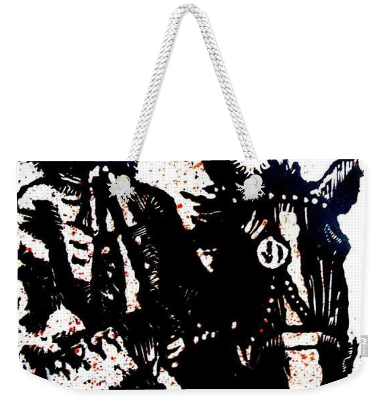 English Highwayman Weekender Tote Bag featuring the mixed media Rogue Of The Road by Seth Weaver