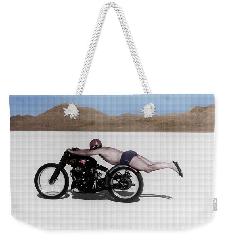 Motorcycle Weekender Tote Bags