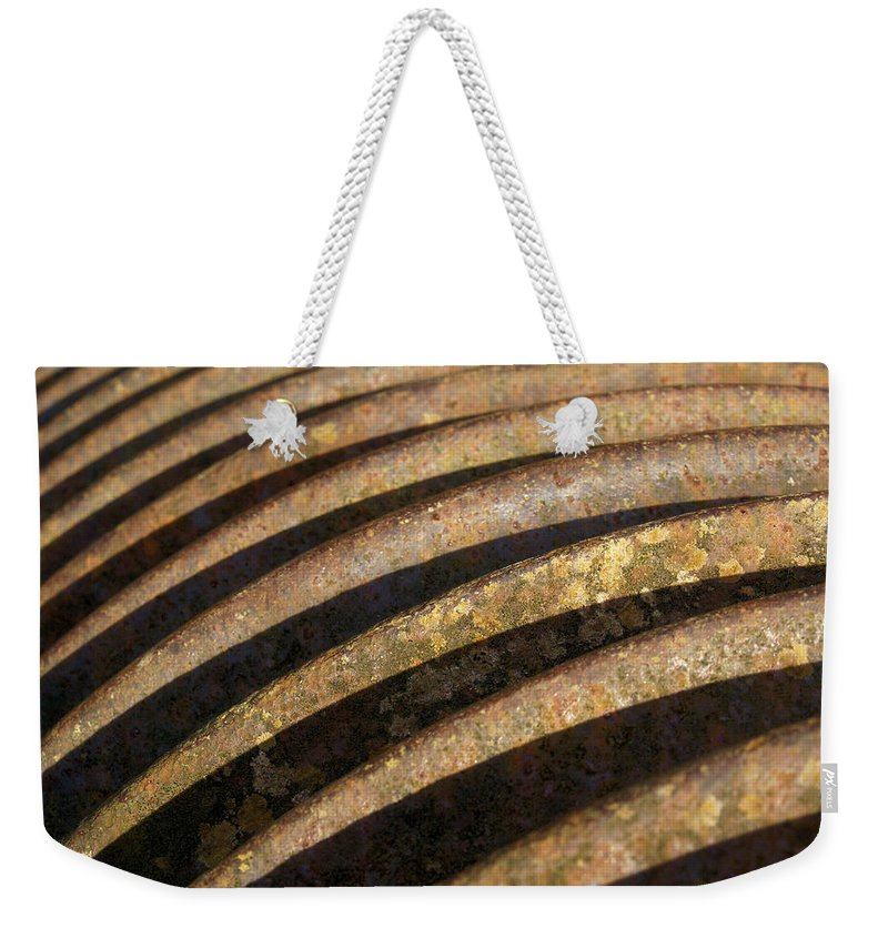 Rust Weekender Tote Bag featuring the photograph Roller 2 by Ron Harpham