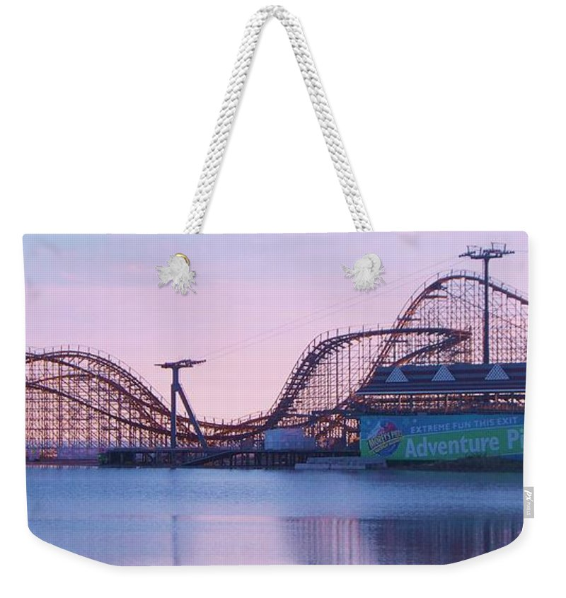 Roller Coaster Weekender Tote Bag featuring the painting Roller Coaster by Eric Schiabor
