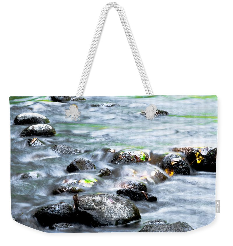 Optical Playground By Mp Ray Weekender Tote Bag featuring the photograph Rolling Brook by Optical Playground By MP Ray