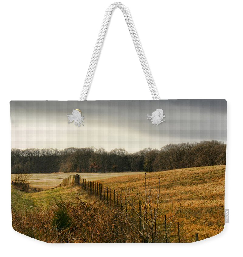 Tn Weekender Tote Bag featuring the photograph Rolling Field by Ericamaxine Price