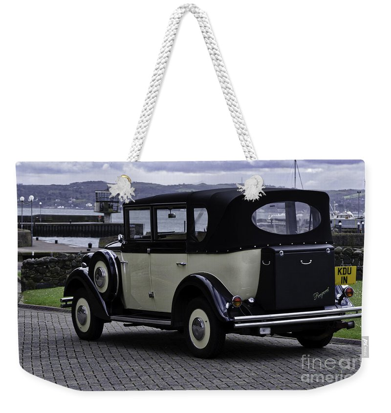 Auto Weekender Tote Bag featuring the photograph Rolls Royce - Regent by Mary Carol Story