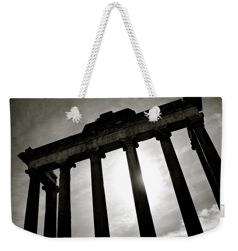 Roman Forum Weekender Tote Bag featuring the photograph Roman Forum by Dave Bowman