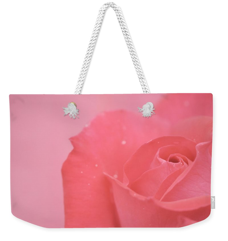 Pink Weekender Tote Bag featuring the photograph Romance by Lisa Knechtel