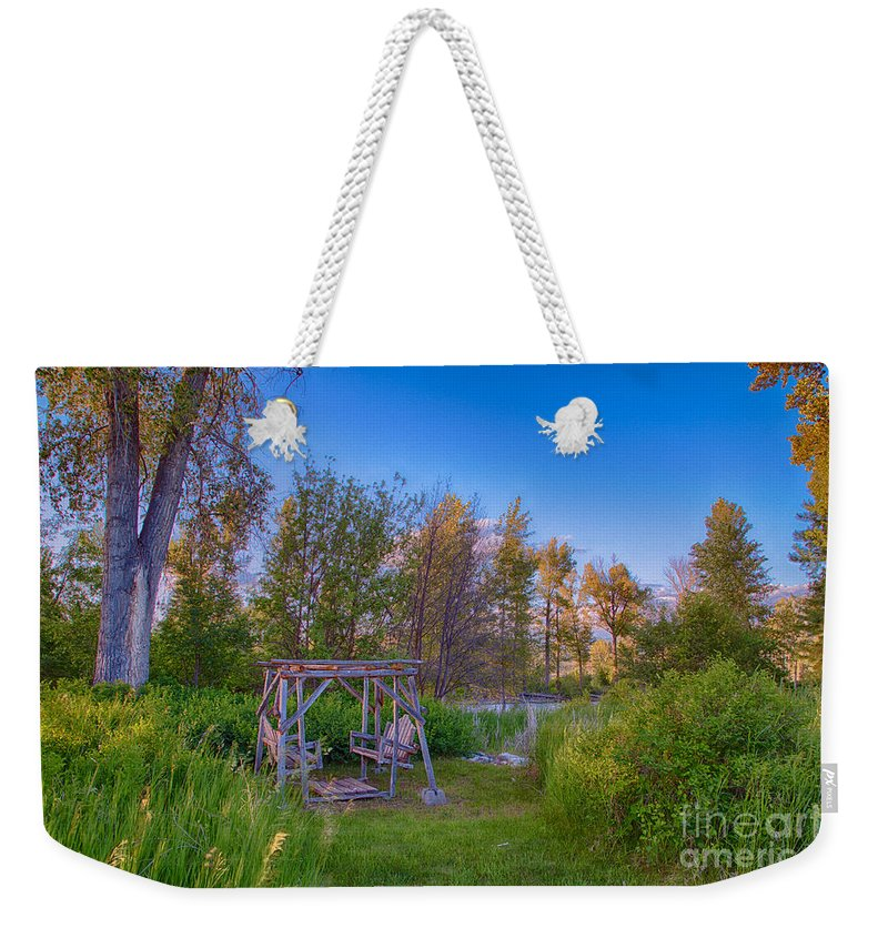 2014 Weekender Tote Bag featuring the digital art Romantic View By The Methow River by Omaste Witkowski