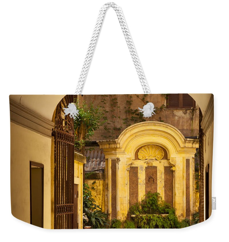 Inner Courtyard Weekender Tote Bag featuring the photograph Rome Entry by Brian Jannsen