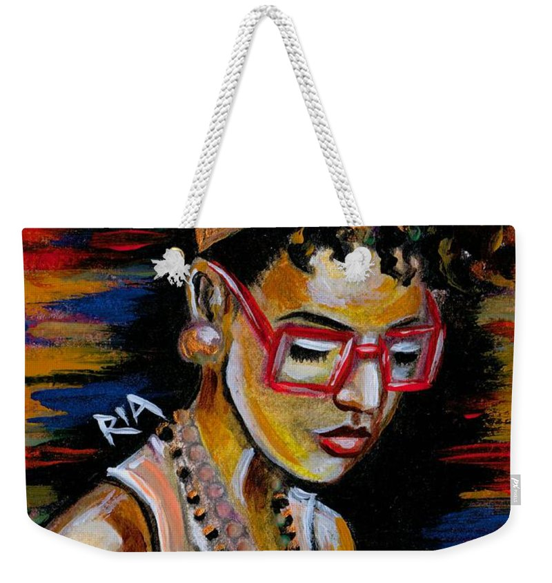 Beautiful Weekender Tote Bag featuring the photograph Romy by Artist RiA