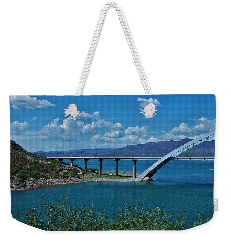 Roosevelt Lake Weekender Tote Bag featuring the photograph Roosevelt Lake 3 - Arizona by Dany Lison