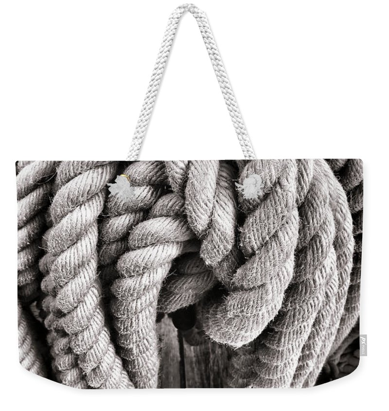 Rope Weekender Tote Bag featuring the photograph Rope by Olivier Le Queinec