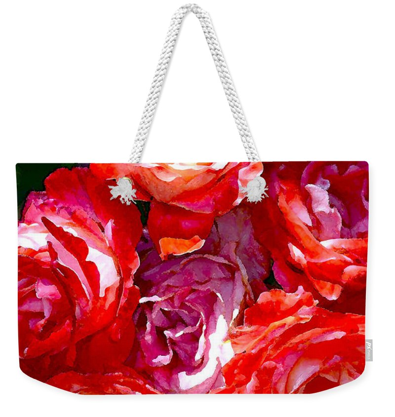 Floral Weekender Tote Bag featuring the photograph Rose 124 by Pamela Cooper