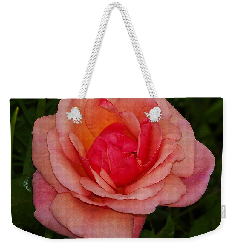 Rose Weekender Tote Bag featuring the photograph Rose 13 by Ingrid Smith-Johnsen