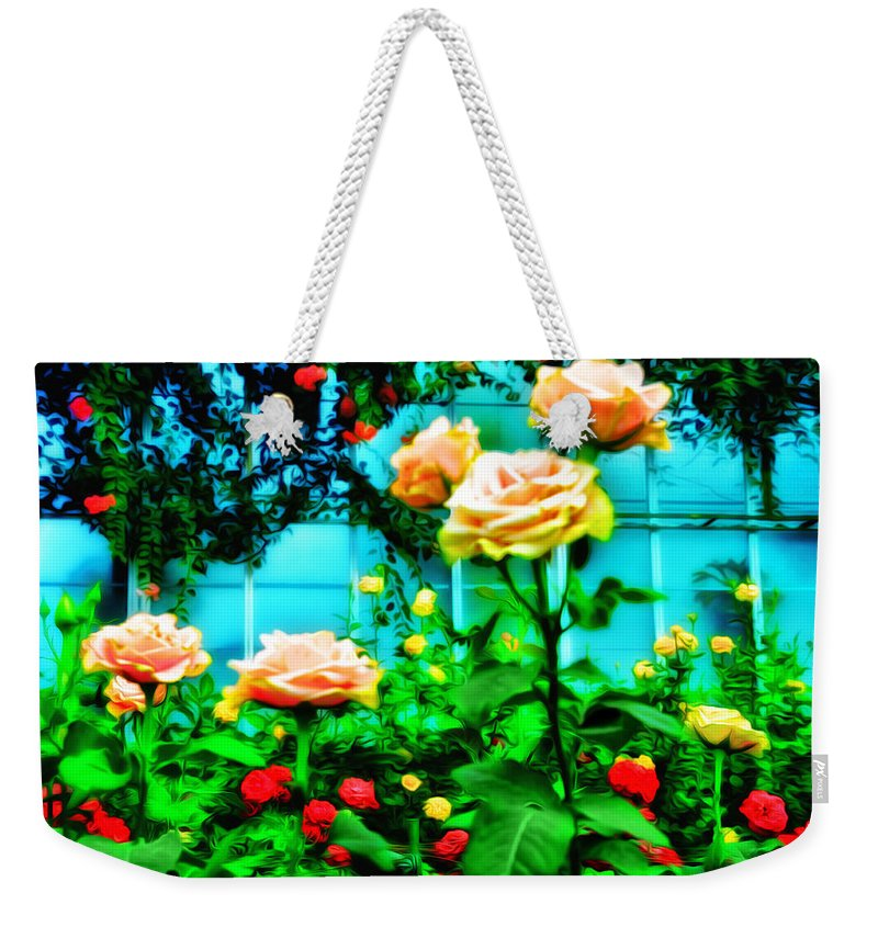 Rose Weekender Tote Bag featuring the photograph Rose Garden by Bill Cannon