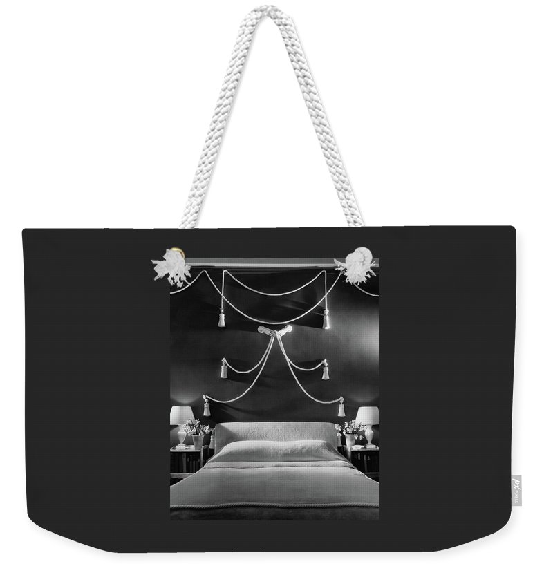 Interior Weekender Tote Bag featuring the photograph Rose Hobart's Bedroom by The 3