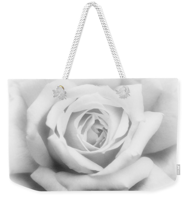 Rose Weekender Tote Bag featuring the photograph Rose Of Innocence by Georgiana Romanovna