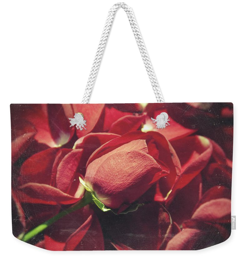 Flower Weekender Tote Bag featuring the photograph Rose by Zapista
