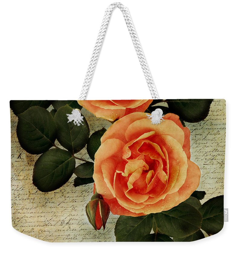 Nag000022 Weekender Tote Bag featuring the photograph Rose Tinted Memories by Edmund Nagele