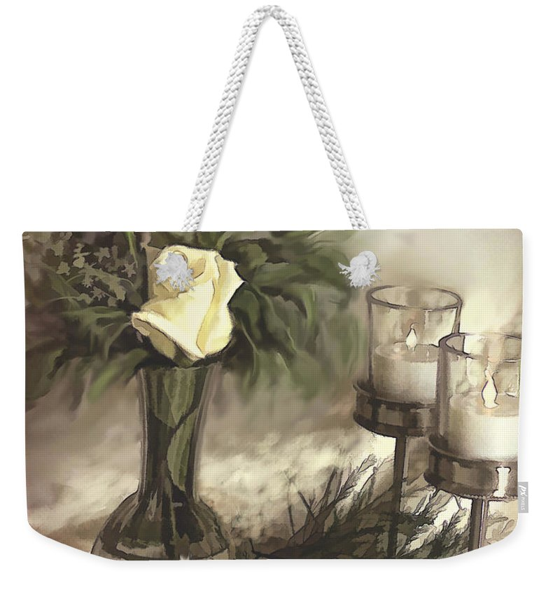 Roses Weekender Tote Bag featuring the photograph Roses Are Yellow by Bonnie Willis