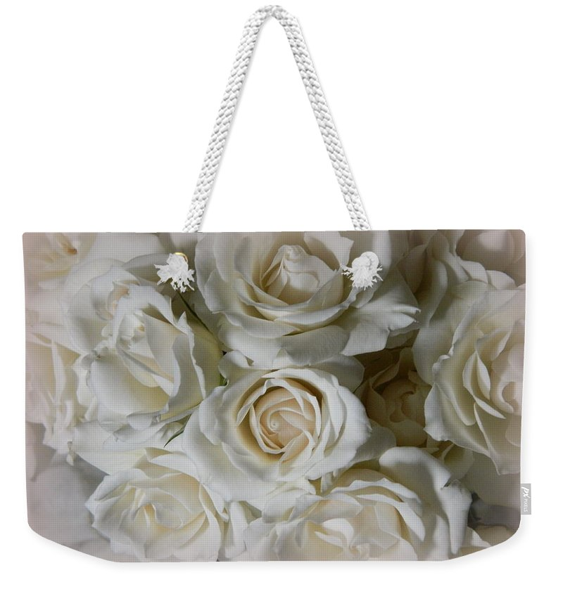 Bouquet Weekender Tote Bag featuring the photograph Roses For You by Kathy Barney