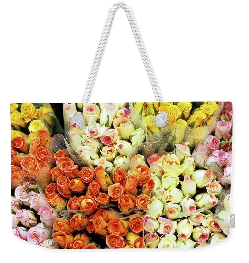 Vietnam Weekender Tote Bag featuring the photograph Roses 01 by Rick Piper Photography