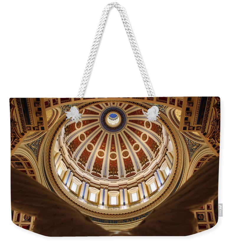 Joseph Skompski Weekender Tote Bag featuring the photograph Rotunda Dome On Wings by Joseph Skompski