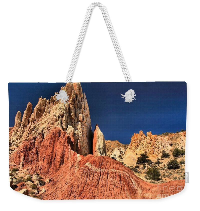 Cottonwood Road Weekender Tote Bag featuring the photograph Rough Rainbow Colors by Adam Jewell