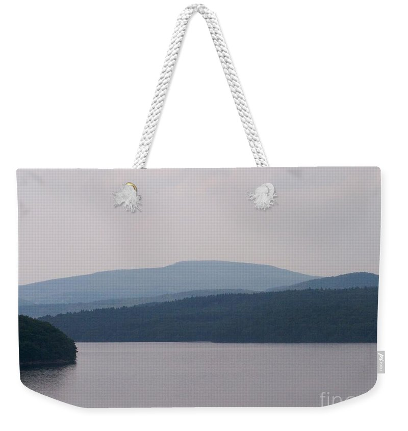 Roundout Reservoir Weekender Tote Bag featuring the photograph Roundout Reservoir by Kevin Croitz