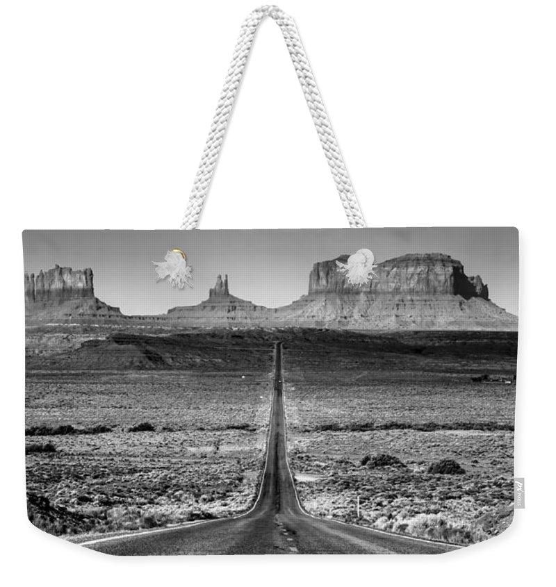 Highway 163 Weekender Tote Bag featuring the photograph Route 163 by Radek Hofman