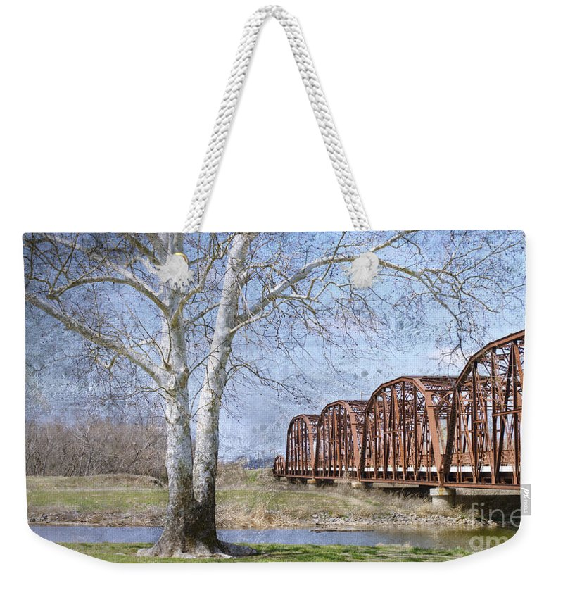 Route 66 Bridge Weekender Tote Bag featuring the photograph Route 66 Bridge by Betty LaRue
