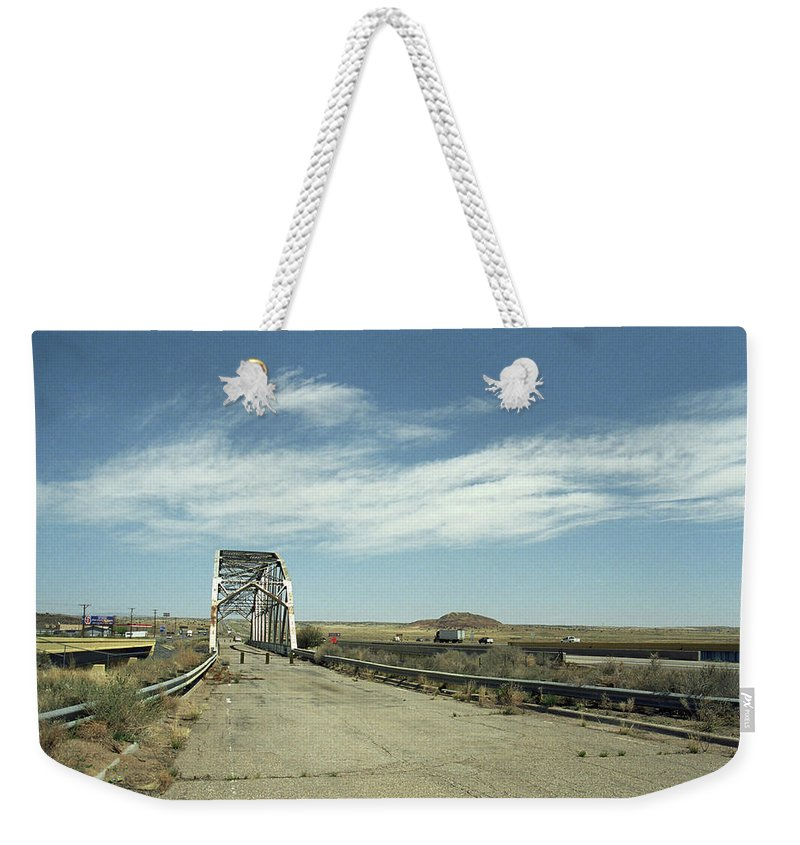 66 Weekender Tote Bag featuring the photograph Route 66 Bridge - New Mexico by Frank Romeo
