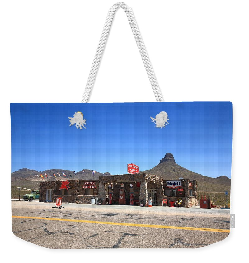 66 Weekender Tote Bag featuring the photograph Route 66 - Cool Springs Camp by Frank Romeo