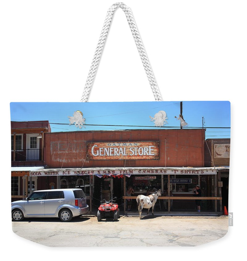66 Weekender Tote Bag featuring the photograph Route 66 - Oatman General Store by Frank Romeo