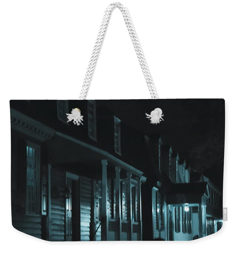 Homes Weekender Tote Bag featuring the photograph Row Homes by Margie Hurwich