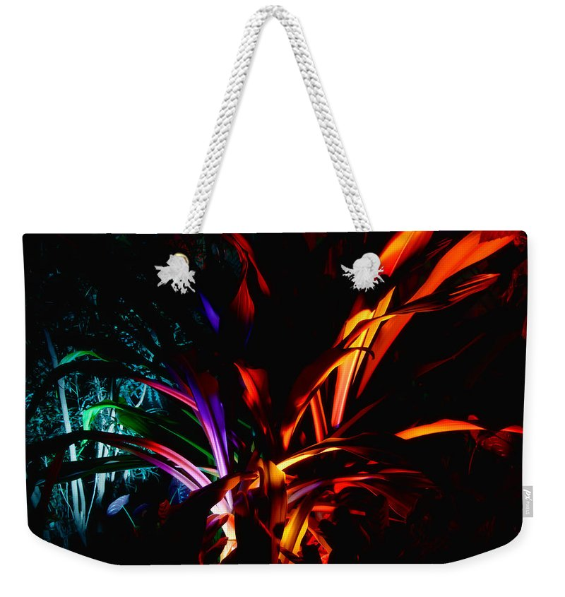 Botanical Weekender Tote Bag featuring the photograph Roy G Biv by Guy Whiteley