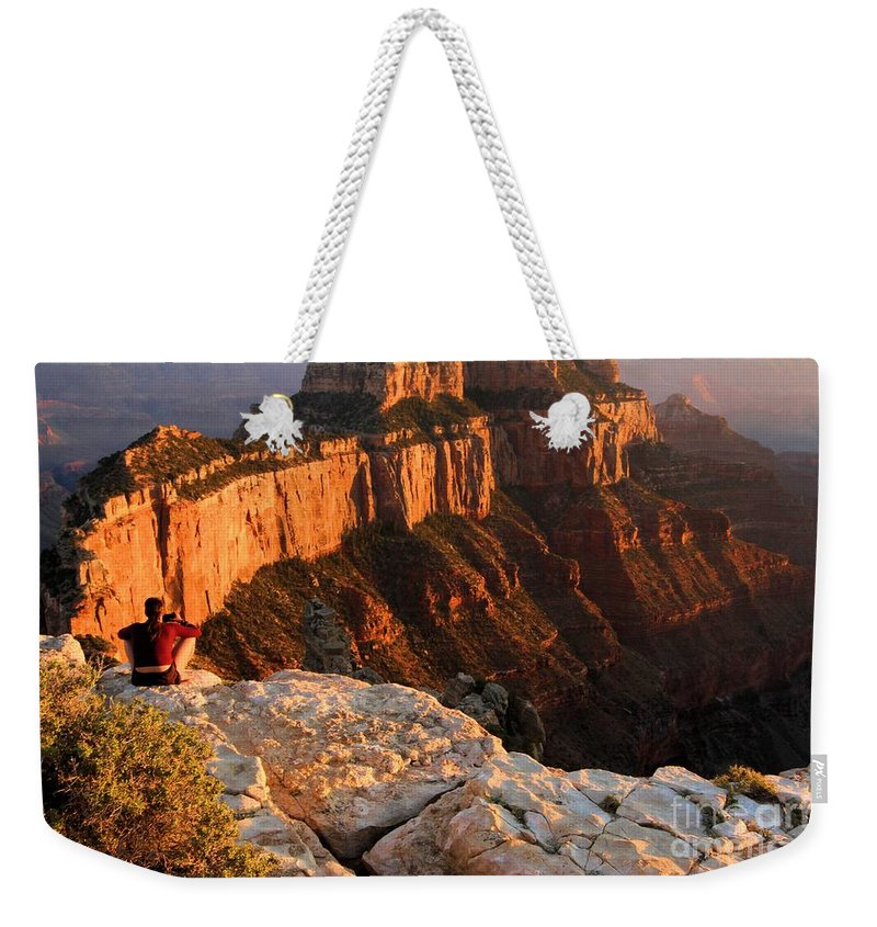 Grand Canyon Weekender Tote Bag featuring the photograph Royal Meditation by Adam Jewell