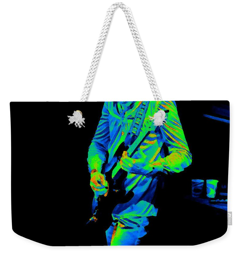 Robin Trower Weekender Tote Bag featuring the photograph Rt #17 Crop 2 Enhanced In Cosmicolors by Ben Upham