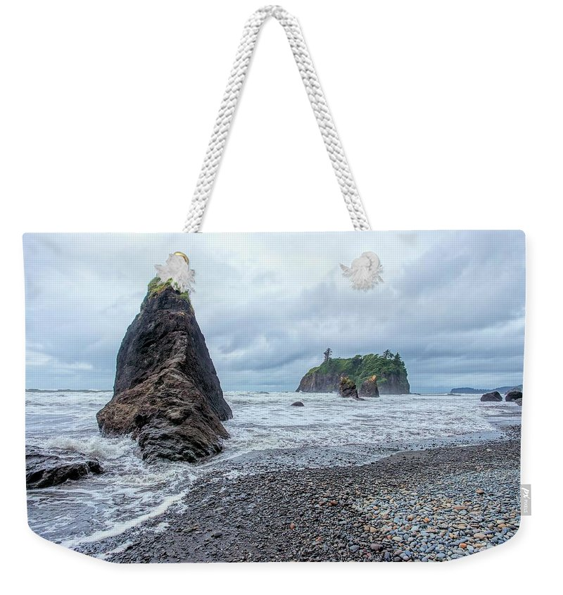 Washington Weekender Tote Bag featuring the photograph Ruby Beach by Jenny Hudson
