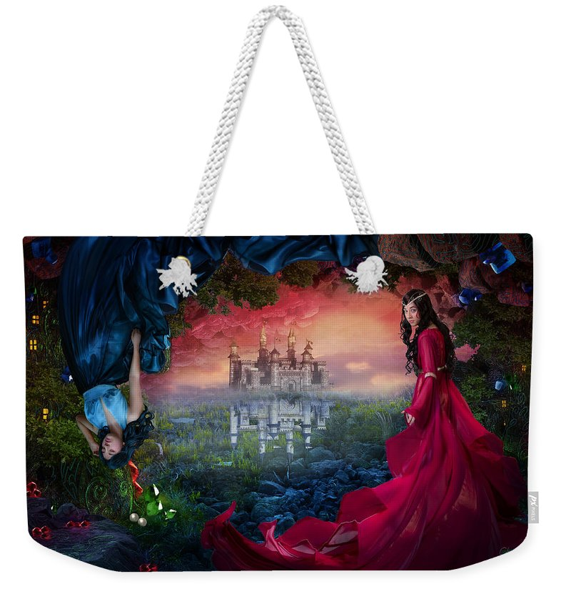 Fantasy Weekender Tote Bag featuring the digital art Ruby by Cassiopeia Art
