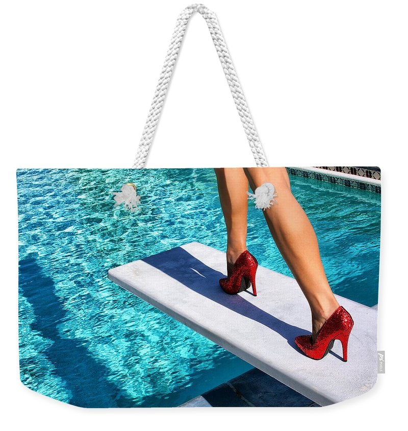 Featured Weekender Tote Bag featuring the photograph RUBY HEELS Ready for take-off Palm Springs by William Dey