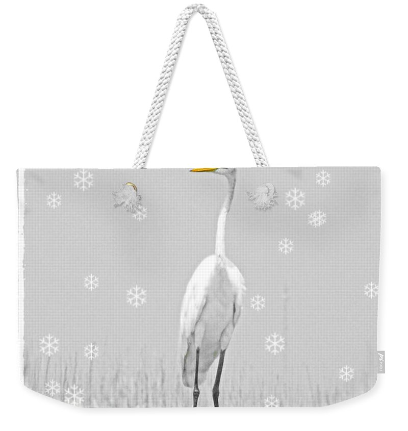Christmas Weekender Tote Bag featuring the digital art Rudolph by Lizi Beard-Ward