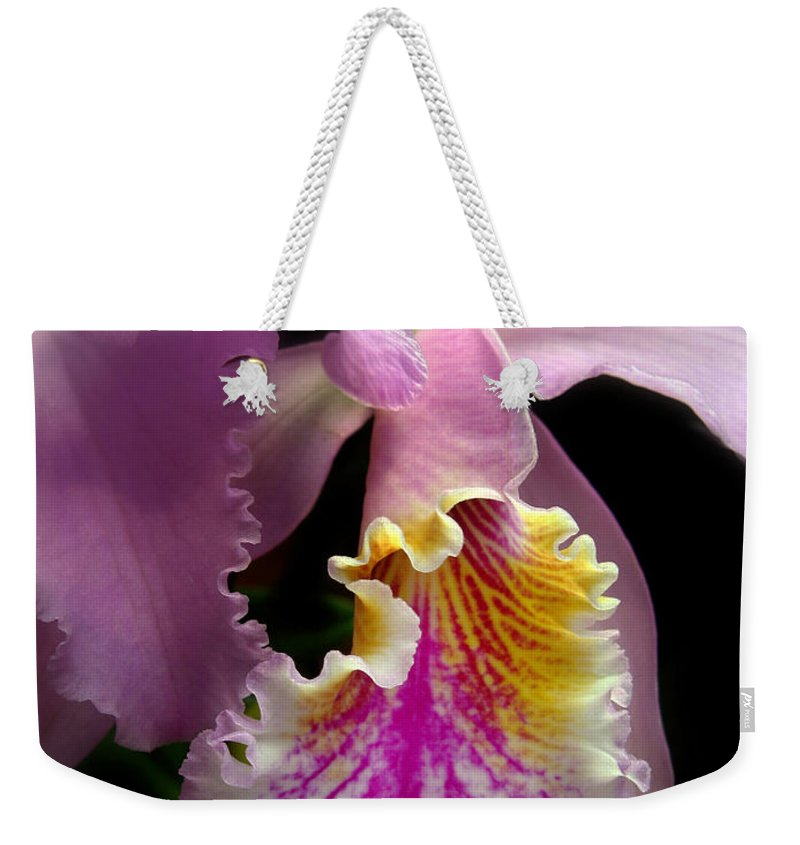 Flowers Weekender Tote Bag featuring the photograph Ruffled by Jessica Jenney