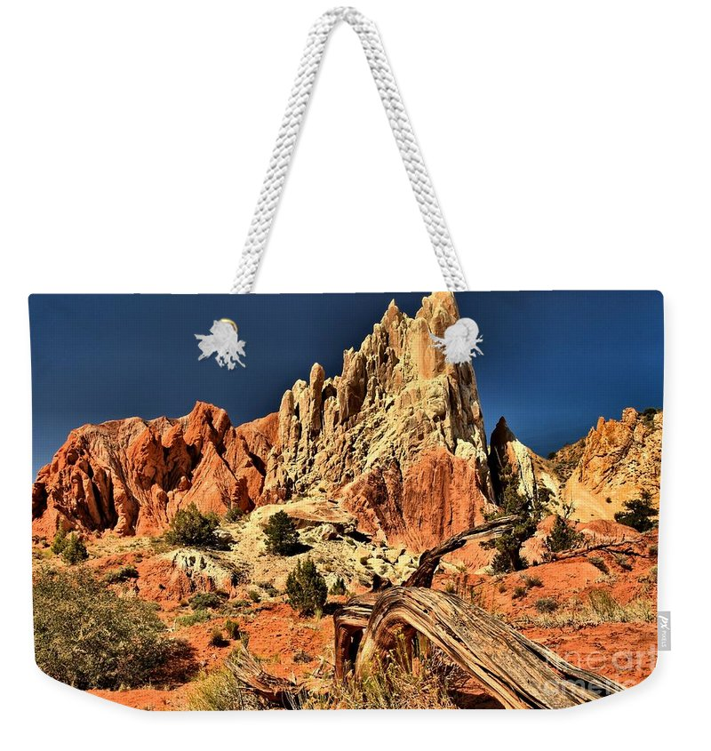 Cottonwood Road Weekender Tote Bag featuring the photograph Rugged Rainbow by Adam Jewell
